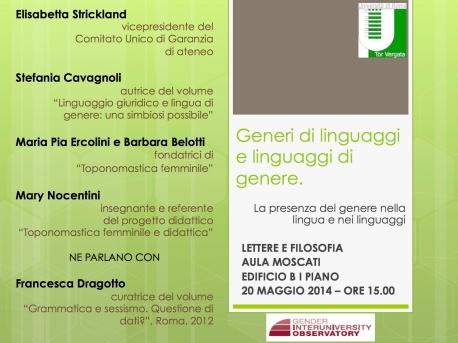 locandina_linguaggi_genere_20maggio2014