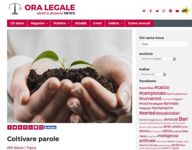 Coltivare parole - Ora Legale News